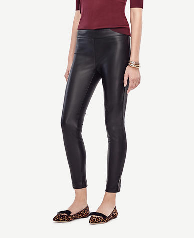 Image of Petite Faux Leather Leggings