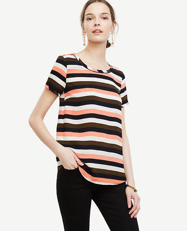 Image of Stripe Piped Tee
