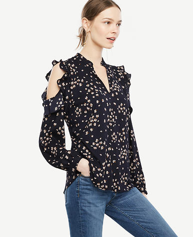 Image of Dandelion Cold Shoulder Blouse