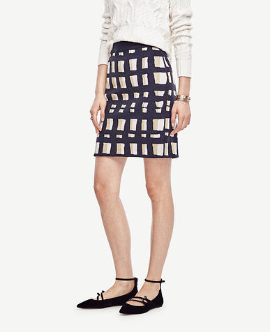 Image of Petite Lattice Knit Skirt