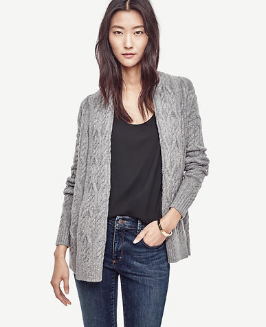 Image of Petite Cable Open Cardigan