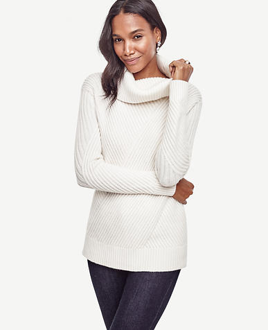 Image of Petite Aran Cowlneck Sweater