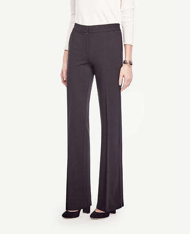 Image of Ponte High Waist Flare Trousers