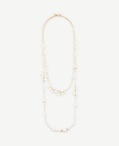 Image of Double Strand Pearlized Necklace