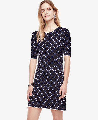 Image of Petite Circle Jacquard Sweater Dress