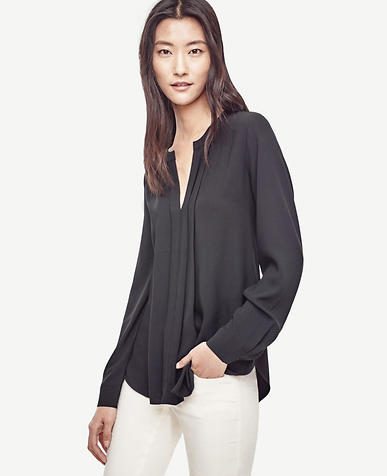 Image of Petite Pleated Mixed Media Popover