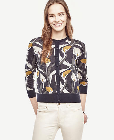 Image of Petite Calla Lily Cropped Ann Cardigan