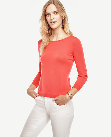 Image of Extrafine Merino Wool Boatneck Sweater