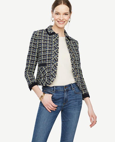 Image of Plaid Tweed Jacket