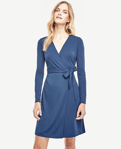 Image of Matte Jersey Wrap Dress