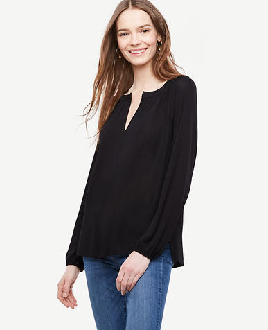 Image of Georgette Split Neck Blouse