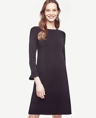 Image of Fluted Sweater Dress