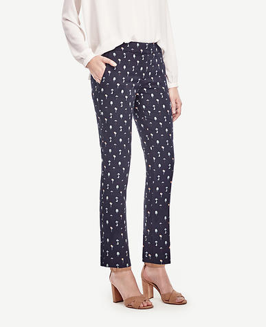 Image of Kate Tree Jacquard Everyday Ankle Pants