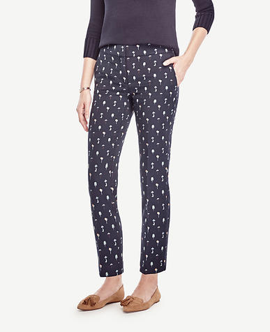 Image of Petite Devin Tree Jacquard Everyday Ankle Pants