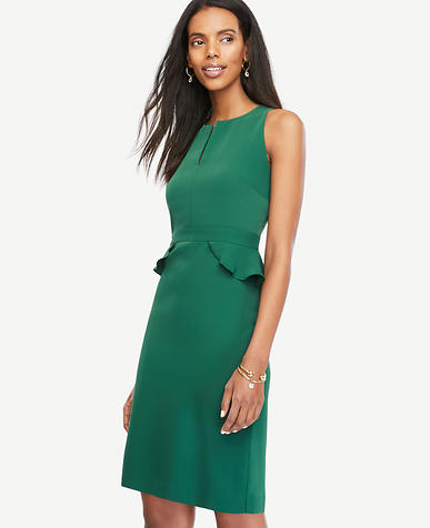 Image of Peplum Sheath Dress