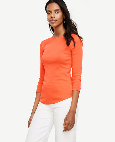 Image of Pima Cotton Boatneck Tee