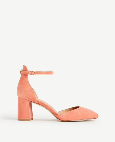 Image of Eliza Suede Round Toe Pumps