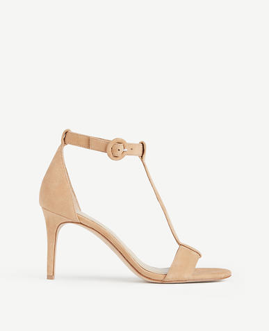 Image of Demi Suede T-Strap Sandals