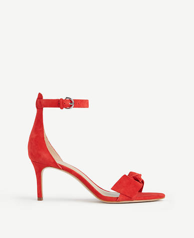 Image of Erica Suede Bow Sandals