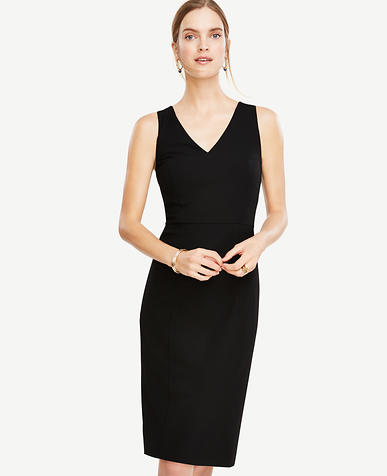 Image of Petite All-Season Stretch Seamed Sheath Dress