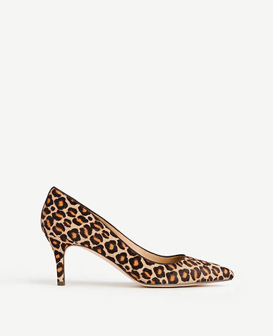 Image of Eryn Leopard Print Haircalf Pumps