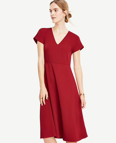 Image of Petite Flare Midi Dress