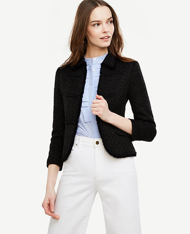 Image of Tweed Texture Bolero Jacket