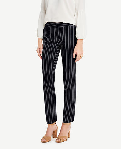 Image of Petite Kate Striped Everyday Ankle Pants