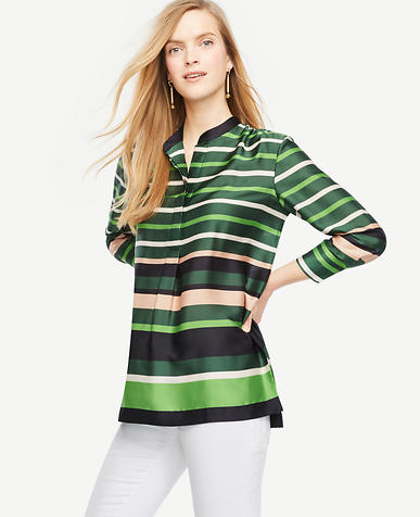 Image of Petite Striped Popover Tunic