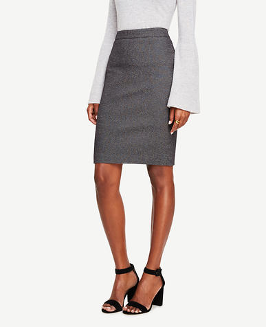 Image of Textured Pencil Skirt