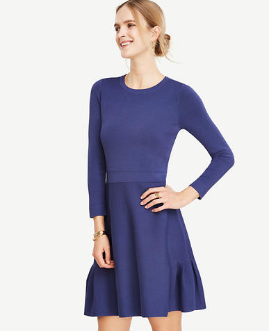 Image of Petite Shirred Swing Dress