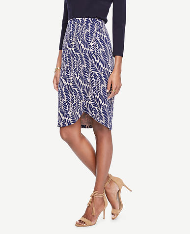 Image of Tall Leaf Petal Pencil Skirt