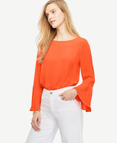 Image of Tall Fluted Sleeve Blouse