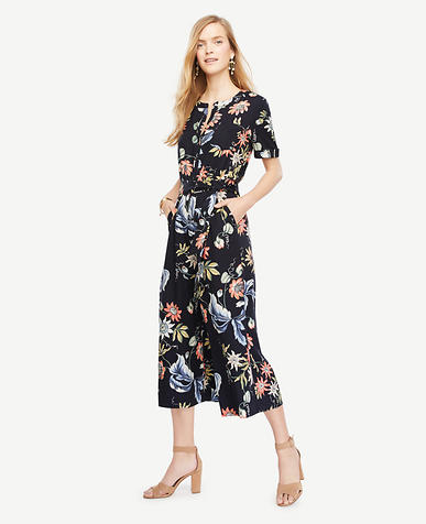 Image of Wild Flower Culotte Jumpsuit