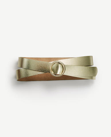 Image of Pull Through Skinny Leather Belt