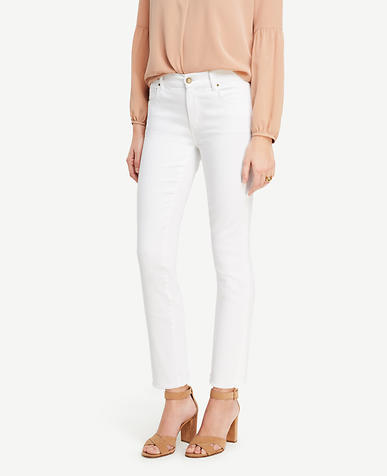 Image of Petite Frayed Crop Jeans