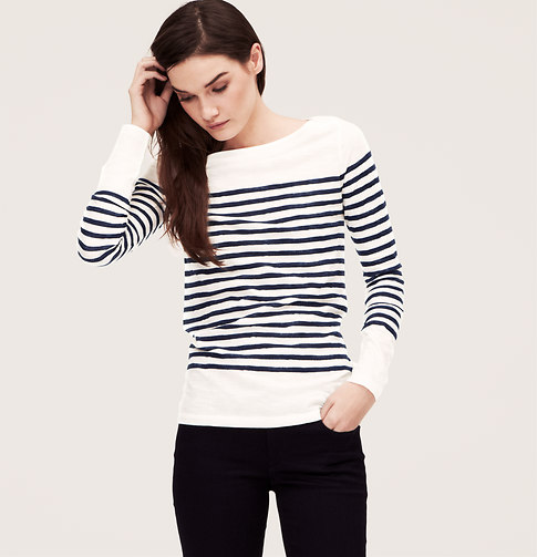 Fun replikates striped shirts for spring for Ann taylor loft fashion island