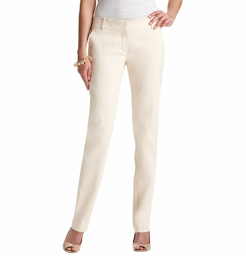 Marisa Straight Leg Pants in Clean Cotton Blend