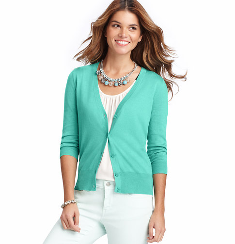 V-Neck 3/4 Sleeve Cardigan