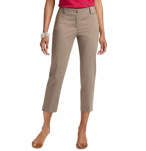 Julie Cropped Pants in Cotton Sateen