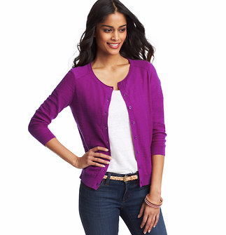 Pointelle Slub Cotton Cardigan