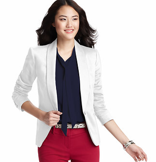 Tall Shawl Collar Clean Cotton Blend Blazer