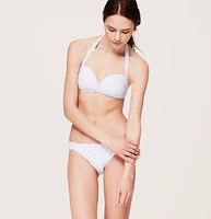 LOFT Beach Polka Dot Halter Bikini Top