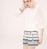 Lou & Grey Texture Stripe Shorts