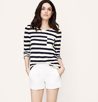 Pieced Stripe Long Sleeve Tee