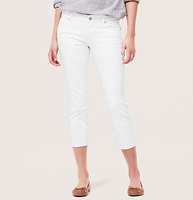 Modern Cropped Jeans in White