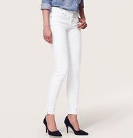 Petite Modern Skinny Ankle Zip Jeans in White