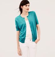 Short Sleeve Pima Cotton Cardigan