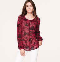 Sheer Butterfly Print Blouse