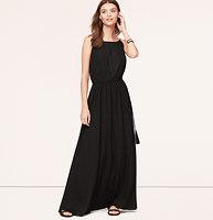Tasseled Halter Maxi Dress